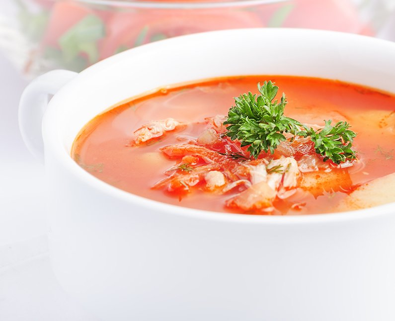 Roasted Red Pepper Quinoa Soup
