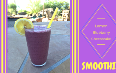 Blueberry Lemon Cheesecake Smoothie
